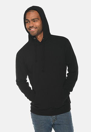 French Terry Hoodie BLACK front