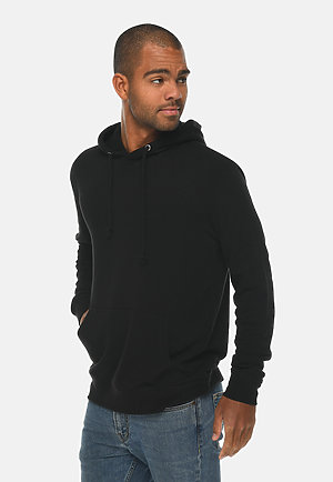 French Terry Hoodie BLACK side