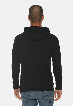 French Terry Hoodie BLACK back