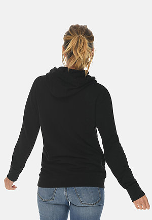 French Terry Hoodie BLACK backw