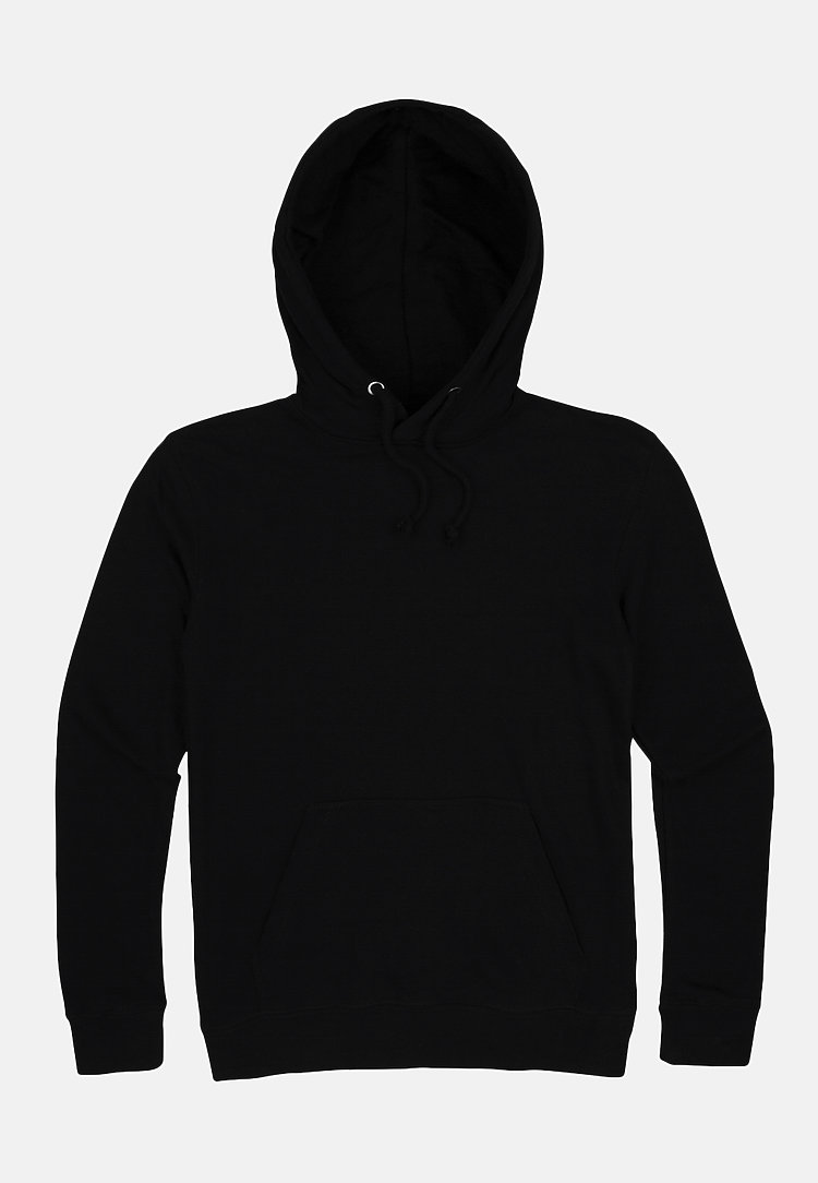French Terry Hoodie BLACK flat
