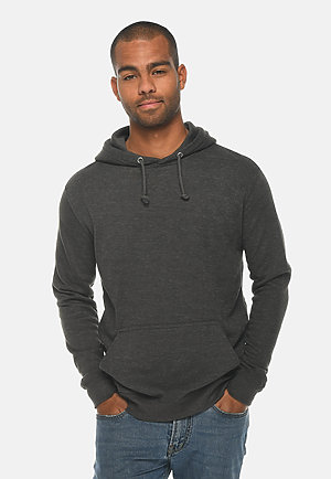 French Terry Hoodie HEATHER CHARCOAL front