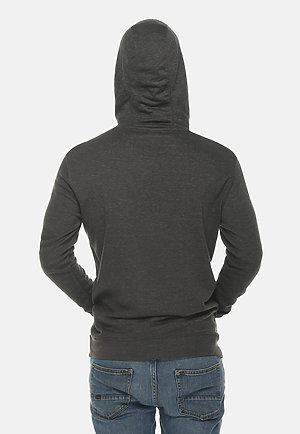 French Terry Hoodie HEATHER CHARCOAL back