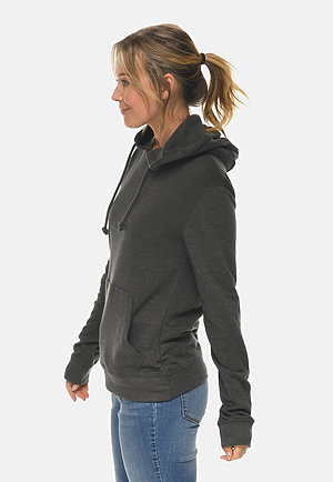 French Terry Hoodie HEATHER CHARCOAL sidew