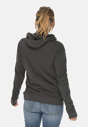 French Terry Hoodie HEATHER CHARCOAL backw