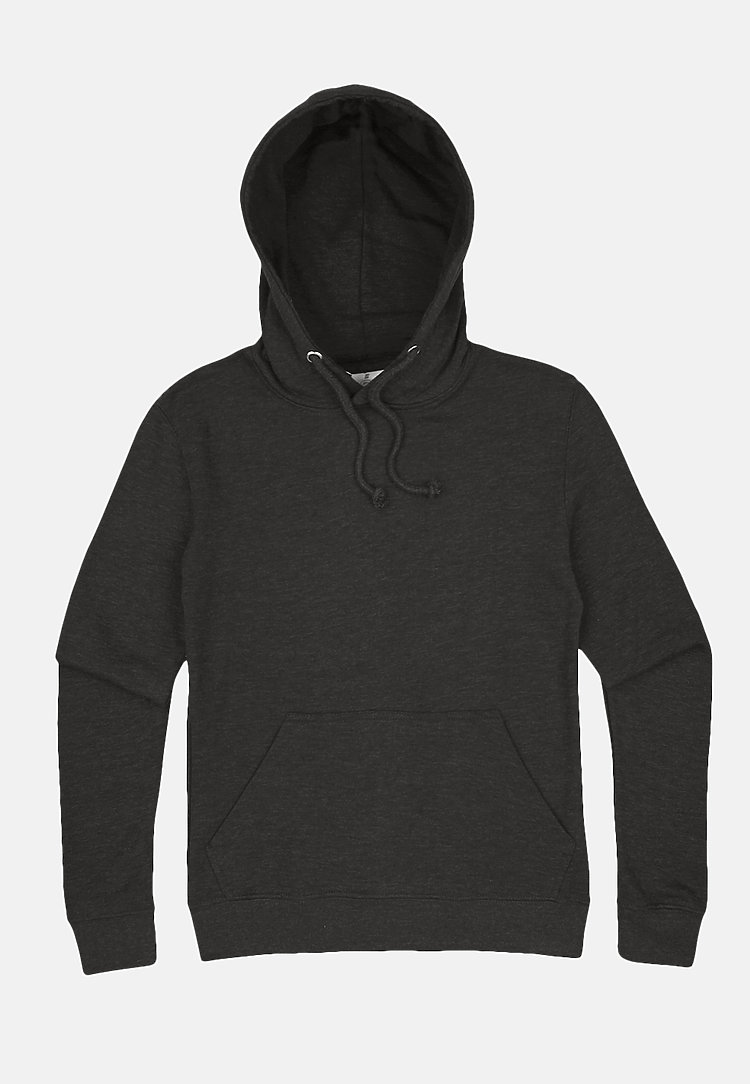 French Terry Hoodie HEATHER CHARCOAL flat