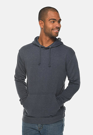 French Terry Hoodie HEATHER DENIM front