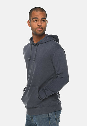 French Terry Hoodie HEATHER DENIM side