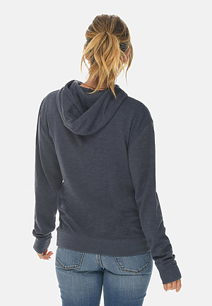 French Terry Hoodie HEATHER DENIM backw