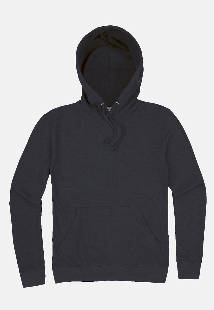 French Terry Hoodie HEATHER DENIM flat
