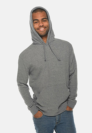 French Terry Hoodie HEATHER GRAPHITE front