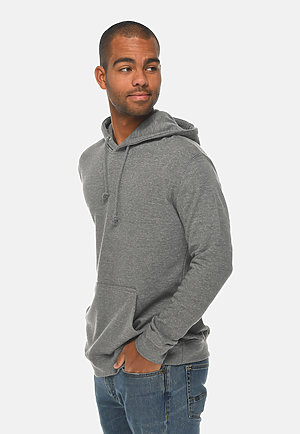 French Terry Hoodie HEATHER GRAPHITE side