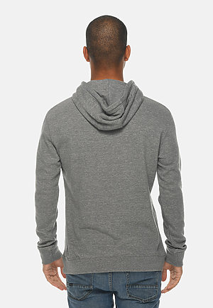 French Terry Hoodie HEATHER GRAPHITE back