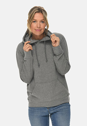 French Terry Hoodie HEATHER GRAPHITE frontw