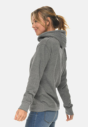 French Terry Hoodie HEATHER GRAPHITE sidew