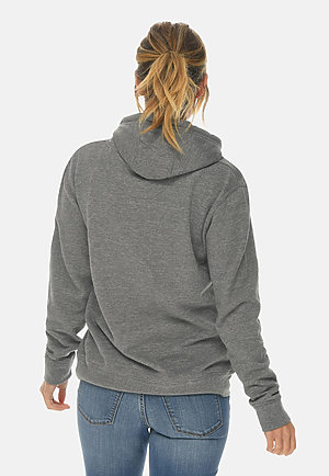 French Terry Hoodie HEATHER GRAPHITE backw