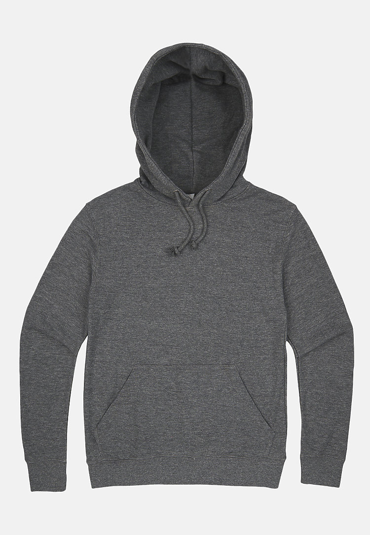 French Terry Hoodie HEATHER GRAPHITE flat