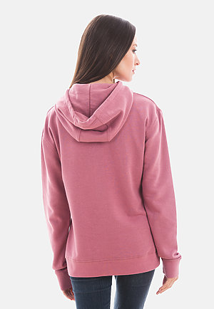 French Terry Hoodie MAUVE backw