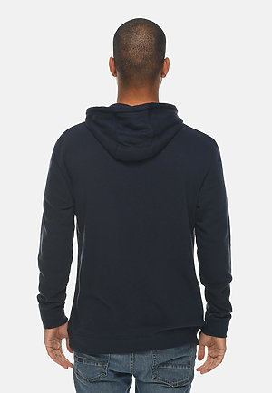 French Terry Hoodie NAVY back