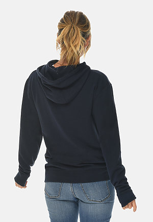 French Terry Hoodie NAVY backw