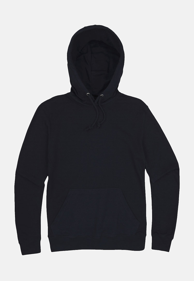 French Terry Hoodie NAVY flat