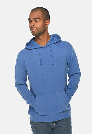 French Terry Hoodie HEATHER ROYAL front