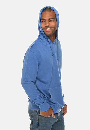 French Terry Hoodie HEATHER ROYAL side