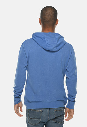 French Terry Hoodie HEATHER ROYAL back