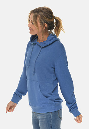 French Terry Hoodie HEATHER ROYAL sidew