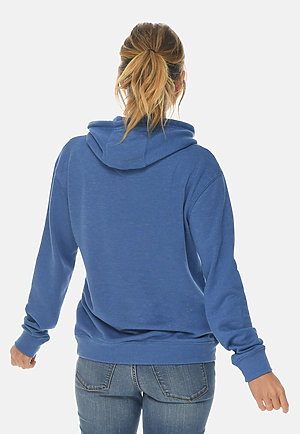French Terry Hoodie HEATHER ROYAL backw