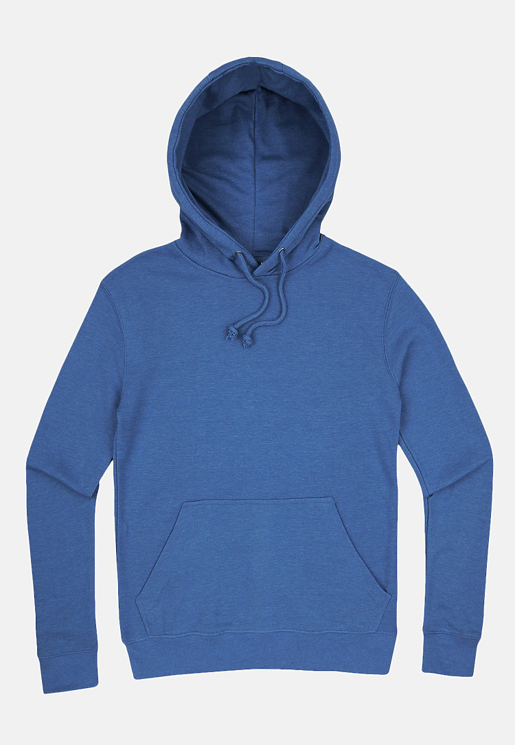 French Terry Hoodie HEATHER ROYAL flat