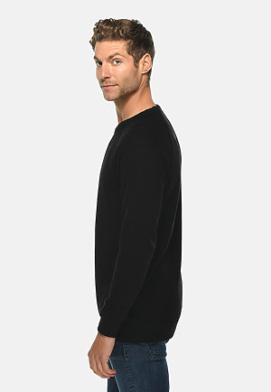 French Terry Raglan Crewneck BLACK side
