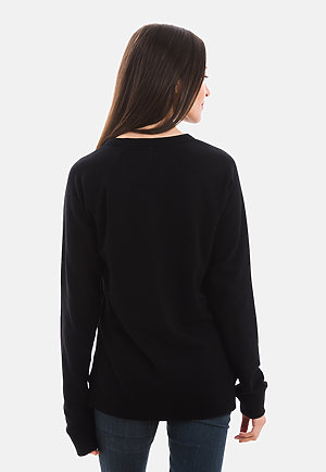 French Terry Raglan Crewneck BLACK backw