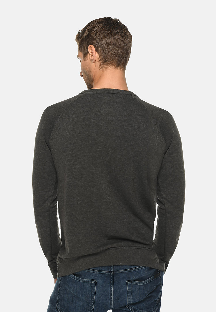 French Terry Raglan Crewneck HEATHER CHARCOAL back