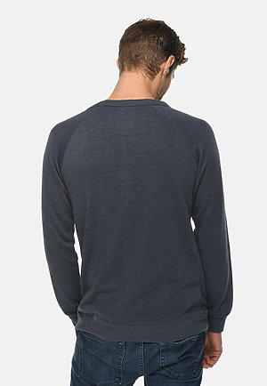 French Terry Raglan Crewneck HEATHER DENIM back