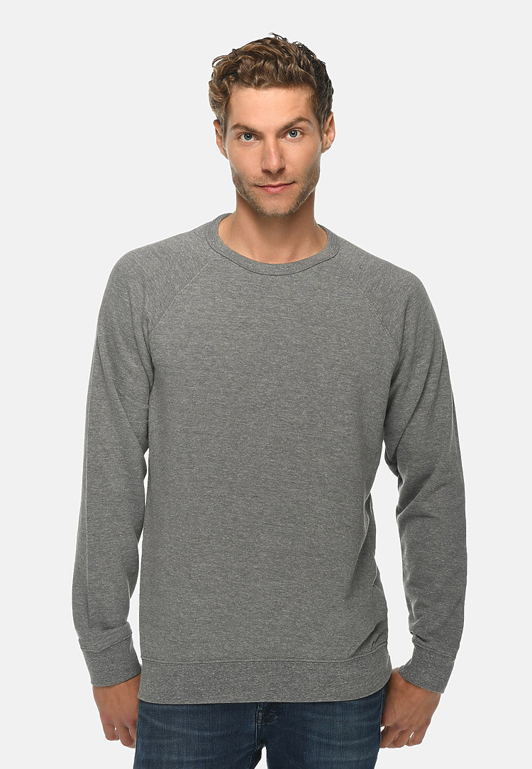 French Terry Raglan Crewneck HEATHER GRAPHITE front