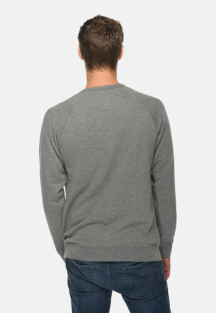 French Terry Raglan Crewneck HEATHER GRAPHITE back