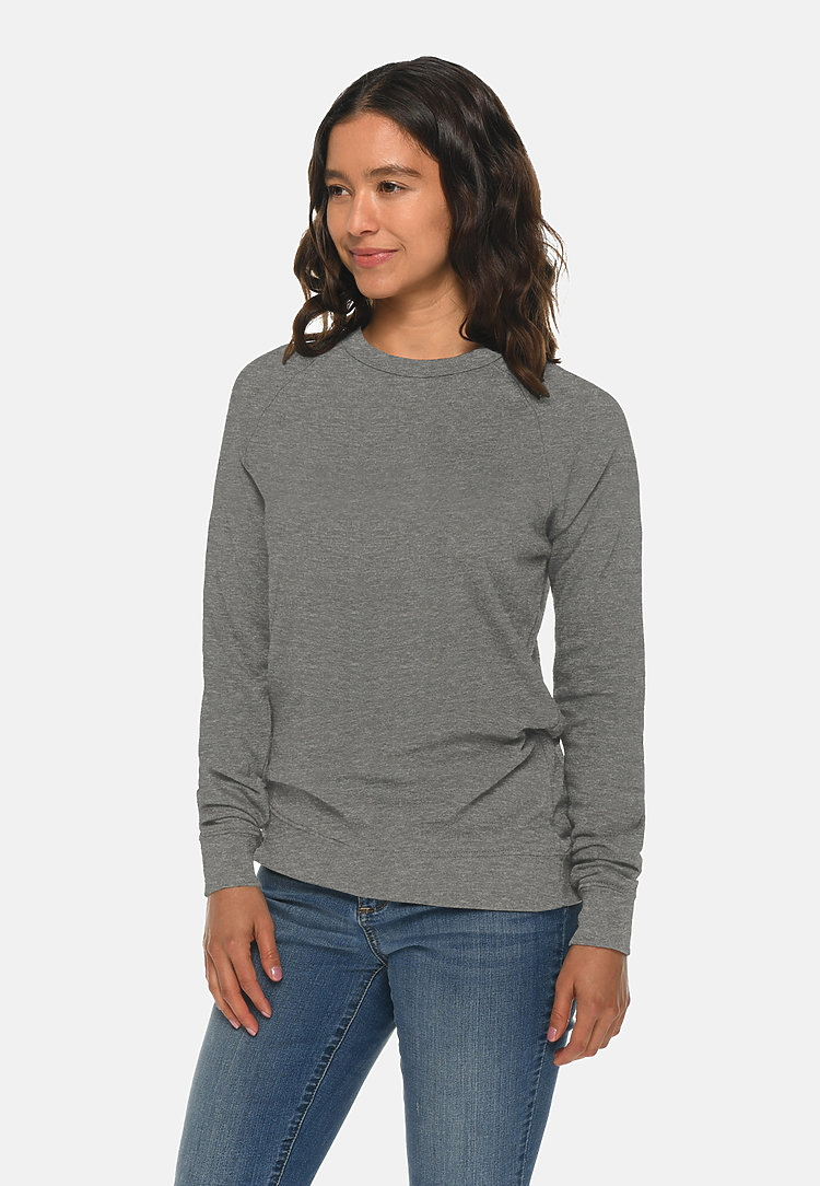 French Terry Raglan Crewneck HEATHER GRAPHITE sidew