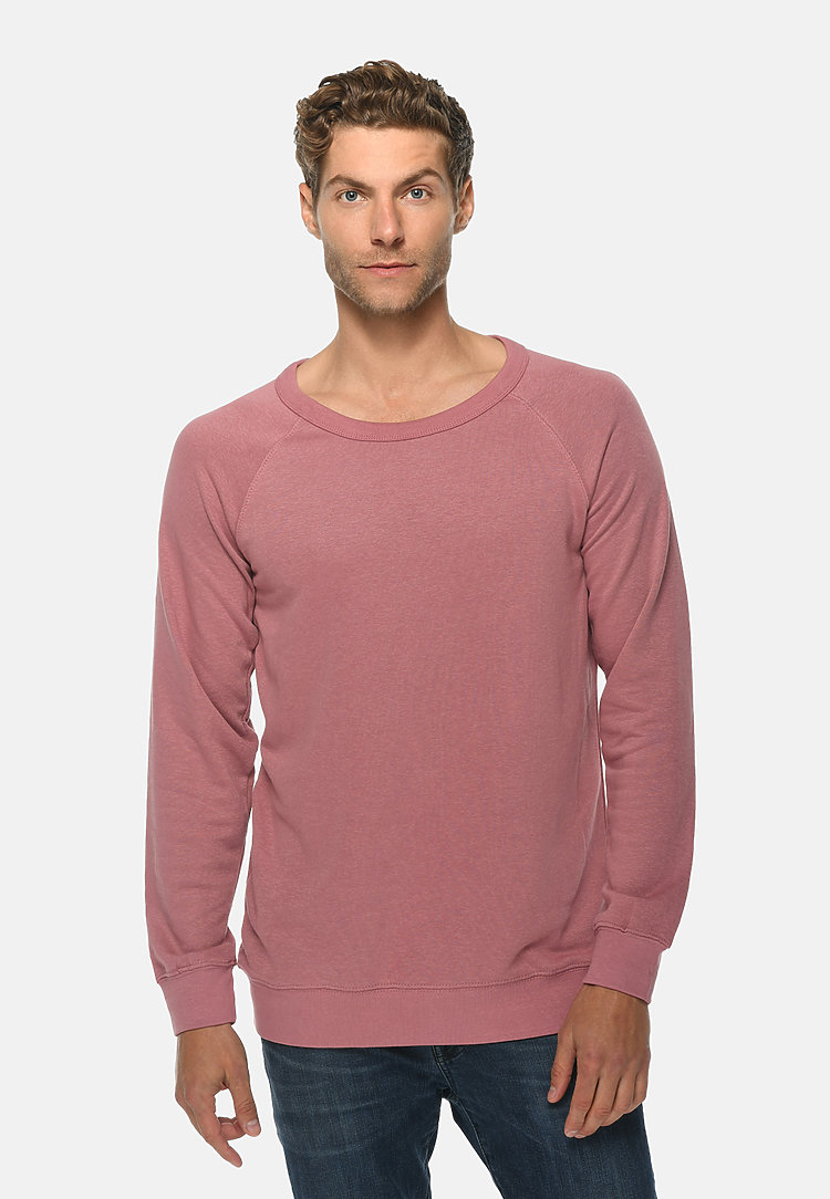 French Terry Raglan Crewneck MAUVE front