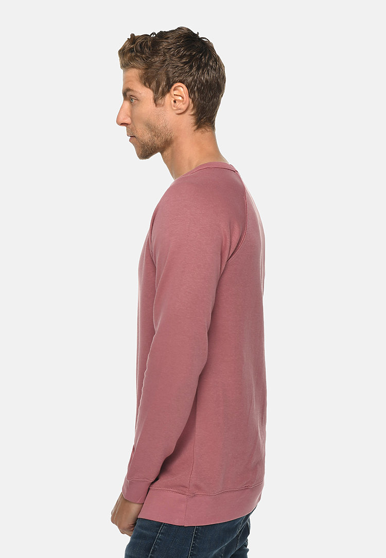 French Terry Raglan Crewneck MAUVE side