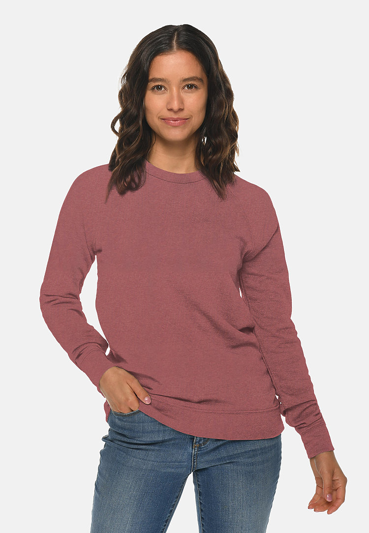 French Terry Raglan Crewneck MAUVE frontw