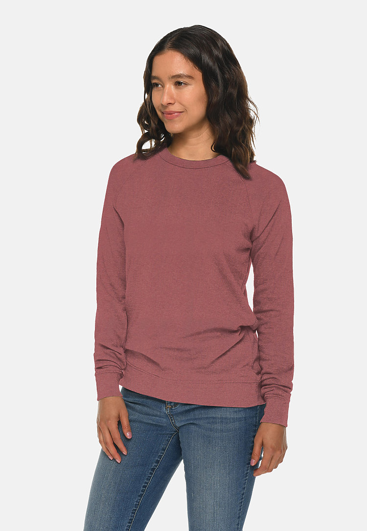 French Terry Raglan Crewneck MAUVE sidew
