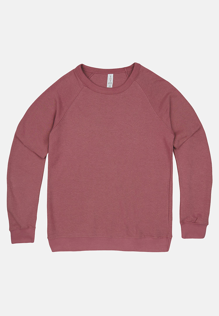 French Terry Raglan Crewneck MAUVE flat