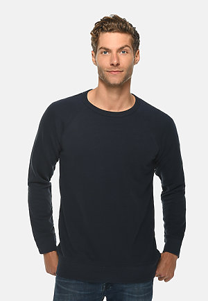 French Terry Raglan Crewneck NAVY front