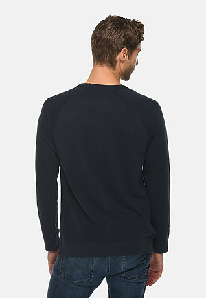French Terry Raglan Crewneck NAVY back
