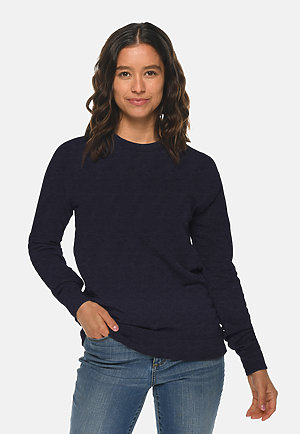 French Terry Raglan Crewneck NAVY frontw