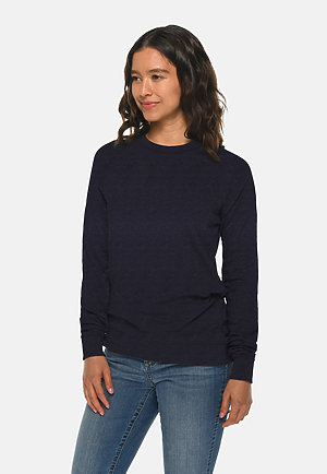 French Terry Raglan Crewneck NAVY sidew