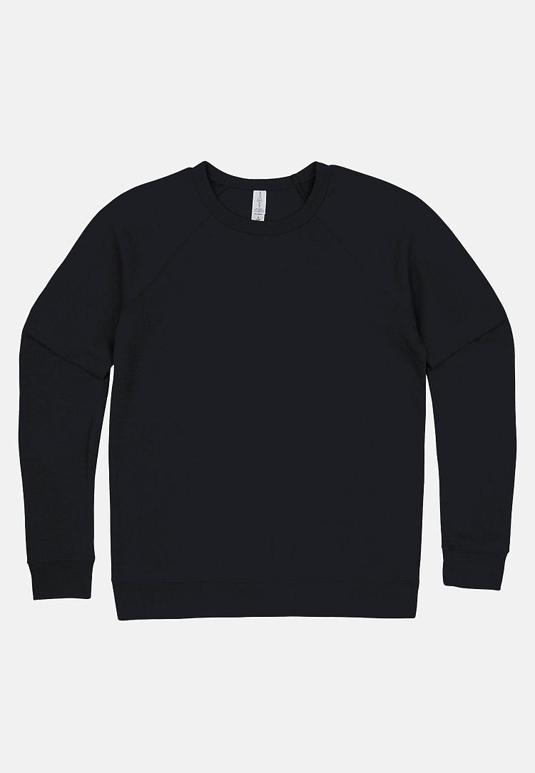 French Terry Raglan Crewneck NAVY flat
