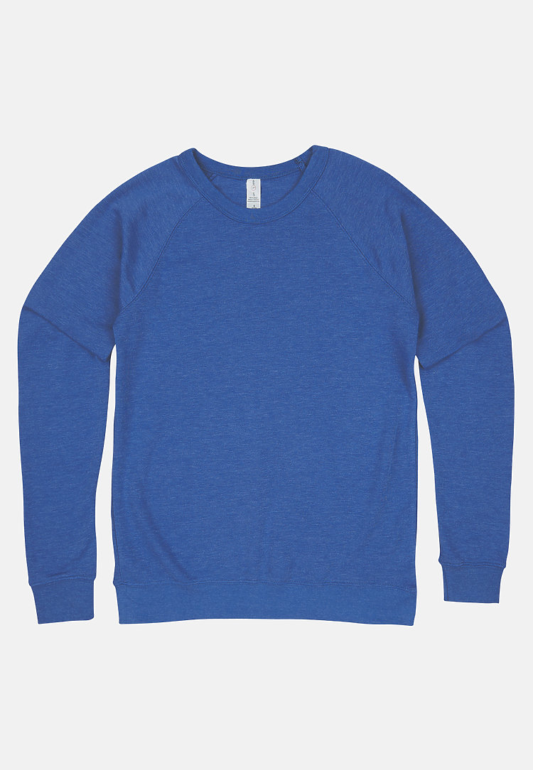French Terry Raglan Crewneck HEATHER ROYAL flat