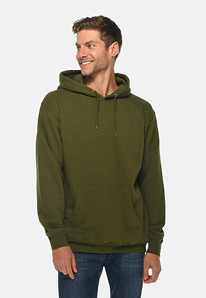 Premium Pullover Hoodie ARMY GREEN front